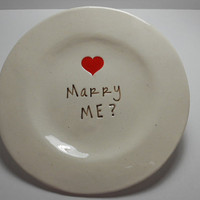 Marry Me  New ceramic Proposal Dish from Wise by wiseimpressions