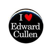 "Amazon.com: 1"" Twilight ""I Love Edward Cullen"" Button/Pin: Clothing"