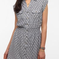 Pins And Needles Smocked Chambray Shirtdress