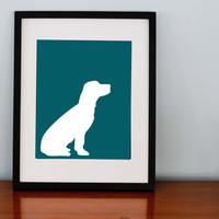 Dog Silhouette Print Customizable 8x10 by RomanticaHome on Etsy