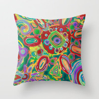 Hallucination Throw Pillow by gretzky | Society6