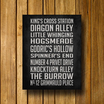 Harry Potter Subway Sign 16 x 20 Poster by EntropyTradingCo