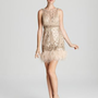 Sue Wong Dress - Open Back Feather Hem - Dresses - Apparel - Women&amp;#039;s - Bloomingdale&amp;#039;s