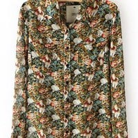 Floral Chiffon Shirt S010164