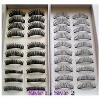 Amazon.com: SODIAL- 20 Pairs Regular Long and Thick Eyelashes Style 1 and 2: Toys & Games