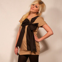 Tan and Black Present Dress by imyourpresent on Etsy