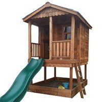 Outdoor Living Today Little Squirt Playhouse with Sandbox Set