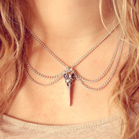 Retro Vintage Peter Pan Silver Skull Collar - Free Shipping - Made to order :)