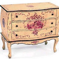 Toile Pastoral Bombe Chest