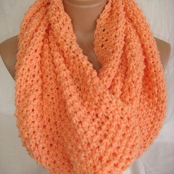 HURRY-Limited Quantity Offer Special Discount Just For 4 Pieces Only, Knitted Hooded Cowl/Scarf/Neck Warmer (Salmon) by Arzu's Style