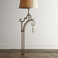 John-Richard Collection Golden Glass-Drop Floor Lamp