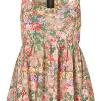 Floral Bow Back Suntop - Camis  Tanks - Tops  - Apparel - Topshop USA