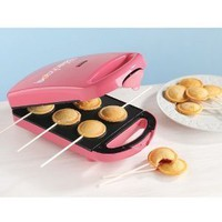 New Babycakes PM-16 6 Pie Pop Maker Minature Nonstick Coated Cakes PM16-Pink