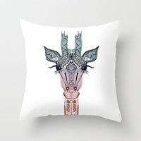 CUTE ..... GiRAFFE  ........Throw Pillow by M✿nika  Strigel