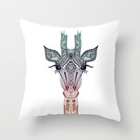 CUTE ..... GiRAFFE  ........Throw Pillow by Mnika  Strigel