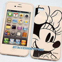IPHONE 4 4S MINNIE MOUSE SILICONE RUBBER PROTECTOR GUMMY SKIN PHONE CASE COVER