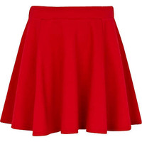 Girls red skater skirt