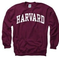 Amazon.com: Harvard Crimson Maroon Arch Crewneck Sweatshirt: Sports &amp; Outdoors