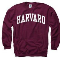 Amazon.com: Harvard Crimson Maroon Arch Crewneck Sweatshirt: Sports & Outdoors