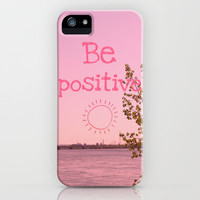 Be positive! iPhone Case by Louise Machado | Society6