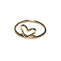 Kiel Mead: Heart Ring 14K Gold, at 45% off!