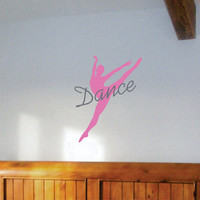 Wall Decal Dancer Silhouette Girls Room Wall decor