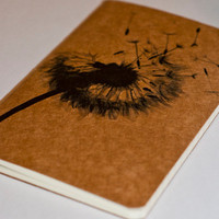 SALE Dandelion Moleskine Cahier by JulienDenoyer on Etsy