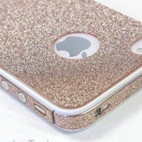 Bestgoods — Cool Sand colour Shiny Rhinestone Full Body Cover Skin Sticker Shield For iPhone 4/4S/5