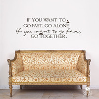 Wall Decal Quote Go Together Vinyl Text by singlestonestudios