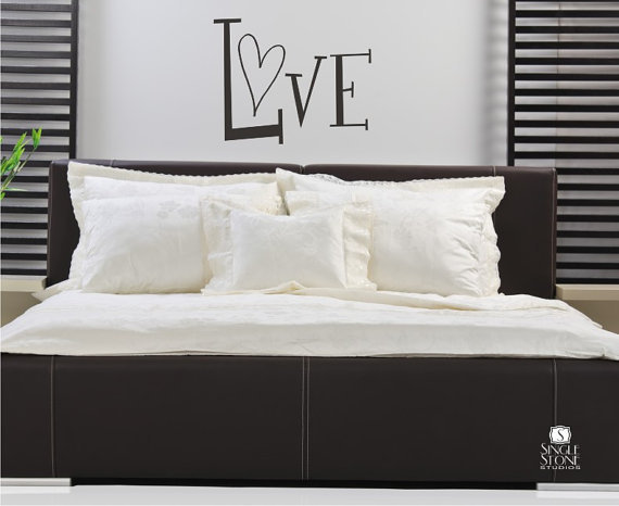 Love Wall Decal Vinyl Wall Stickers Art by singlestonestudios