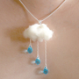 ENGLISH SUMMER   Rain and Cloud  NECKLACE by MIXKO on Etsy