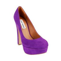 BEASST PURPLE SUEDE women's dress high platform - Steve Madden