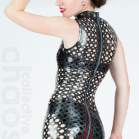 Latex Perforated DragonFly Dress