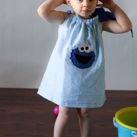 Cookie Monster Pillowcase Dress