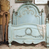 Painted Cottage Aqua Chic Romance Bed BD157