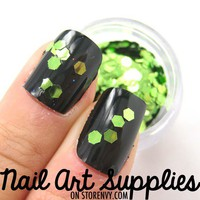 nailartsupplies | Unique Grass Green Sequin Raw Nail Glitter Mix 3.5 Grams | Online Store Powered by Storenvy