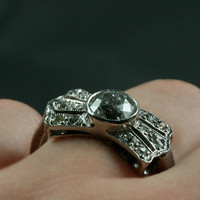 Art Deco Diamond Bow Ring by Ruby Gray's | Ruby Gray's