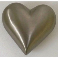 UrnsDirect2U Pewter with Lines Heart Keepsake Urn - 9883