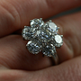 Large Vintage Diamond Daisy Cluster Engagement Ring by Antique | Ruby Gray's