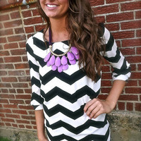 Chevron Statement Dress | The Rage