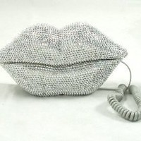 Amazon.com: Hot Lips Phone - Silver Rhinestone: Home & Kitchen