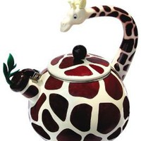 Amazon.com: Animal Kettle 2.5 Quart Whistling Enamel on Steel Giraffe Tea Kettle: Kitchen &amp; Dining