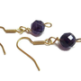 Earrings With Flashing Faceted A Grade 8mm Amethyst - Violet Purple Glowing Plum Wine