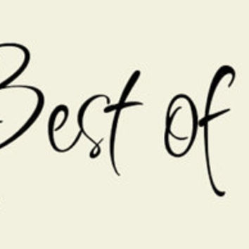 The Best of Times Vinyl Wall Quote Lettering by madebytheresarenee