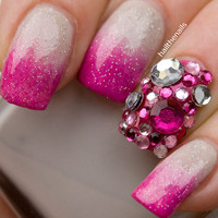 Pink Crystal  Studs Nail Art - This seasons must have nails. 100 Rhinestones per pack