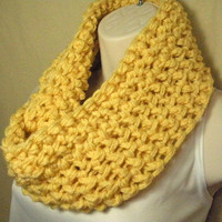 ButterCream Yellow Cowl Infinity Circle Scarf Neckwarmer