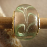 Murano Glass Pandora Stamped Bead For Bracelet