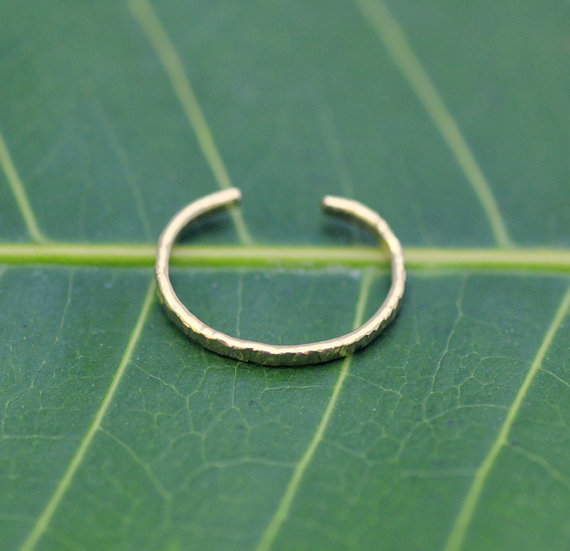 14K Gold Filled Ear Cuff Hoop Earring by Holylandstreasures