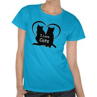 I Love Cats Shirt from Zazzle.com