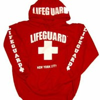 Amazon.com: LIFEGUARD New York City Red Hoodie: Clothing